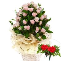 꽃바구니+코사지2개(꽃행복343호)